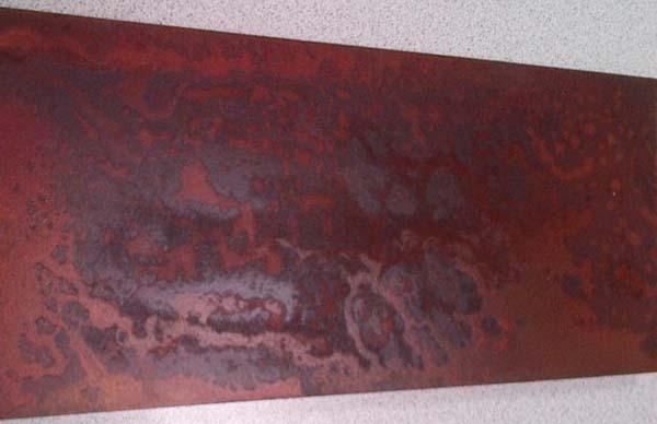 Barniz efecto xido para superficies del realista aspecto for Peinture murale effet