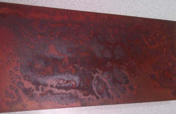 Barniz efecto xido para superficies del realista aspecto xido for Peinture murale a effet